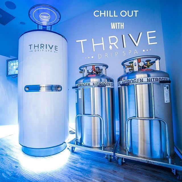 Come beat the #Houston #heat with #thrivedripspa 💧 Our #cryotherapy sauna is giving our clients the boost of #energy, #slim down, and #muscle recovery they need!