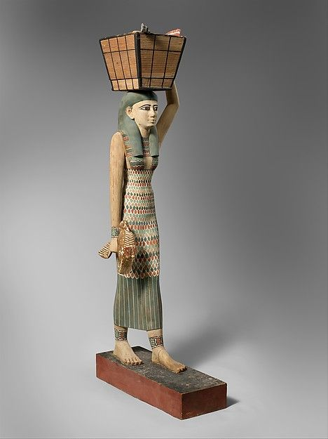 This masterpiece of Egyptian wood carving was discovered in a hidden chamber at the side of the passage leading into the rock cut tomb of the royal chief steward Meketre, who began his career under King Nebhepetre Mentuhotep II of Dynasty 11 and continued to serve successive kings into the early years of Dynasty 12