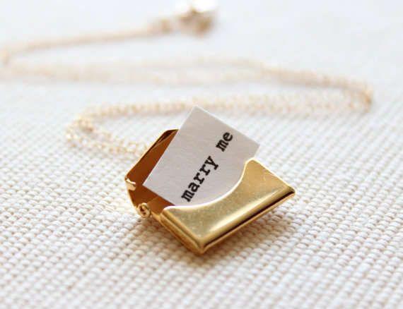 a proposal in a locket