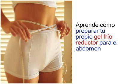 Cómo preparar un gel frío reductor para el abdomen ~ Manoslindas.com