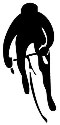 Biker Silhouette Front View