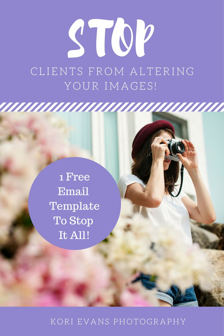 Stop photography clients from taking screen shots, cropping water marks, and putting instagram filters on YOUR images! 1 Free email template to help stop it all!