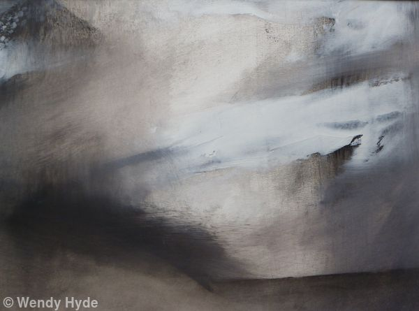 Monotone Abstract study 9 relating to Landscape - mix media sold