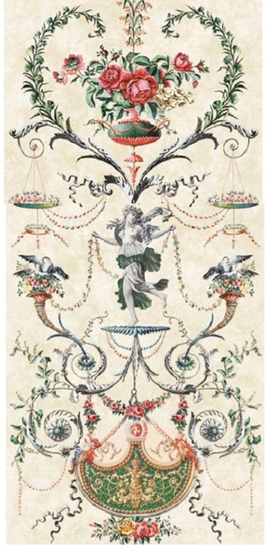 French Arabesque Panels Chinoiserie Wallpaper Panels For