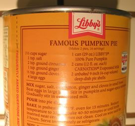 Libby's pumpkin pie recipe - the best. Only change I do is add a little fresh ground nutmeg & use only about 1&3/4 cans evap milk. Makes filling less runny. Also just mix all in 1 bowl!