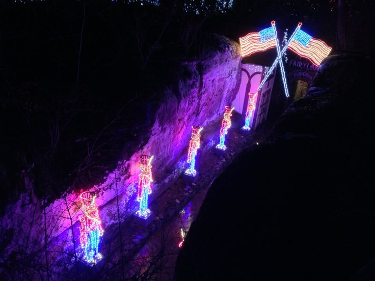 Enchanted Garden Of Lights At Rock City Gardens In Lookout Mountain,  #Georgia