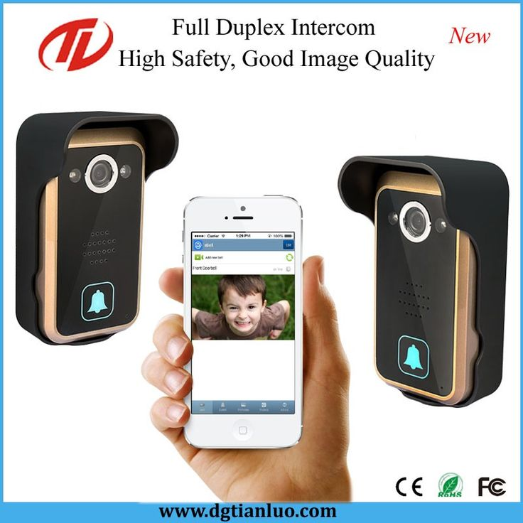 Wireless video door phone IP door bell smart WiFi doorbell with a video camera and motion sensor
