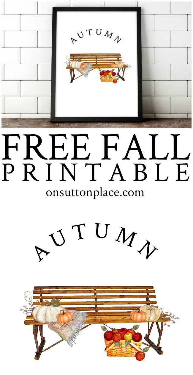 Fall Printables for Easy DIY Wall Art | On Sutton Place Printables