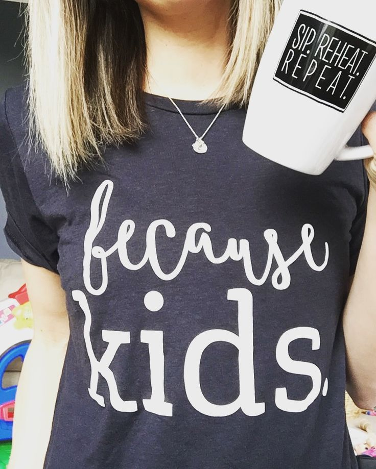 Because Kids | Sip. Reheat. Repeat. | Use Code PIN for 15% Off! bankygirlcreations.com Home of *The Original* Because Kids™ Stemless Wine Glass Featured by Scary Mommy, Buzz Feed Parents, Huff Post Parents, Pop Sugar Moms! Follow along on IG @bankygirlcreations | Coffee- Mug - Coffee Mug - Funny Mug - Mom Life - Mom Humor - Graphic Tee - Because Kids Tee - Mom Clothes