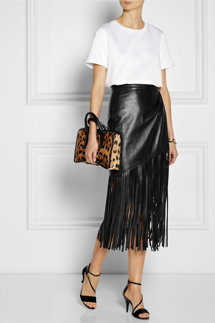 Leather Skirt Fringe - Dress Ala