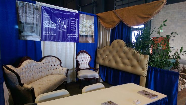 EYM booth at the Elegant Home Expo at Westworld of Scottsdale, November 2015! https://www.eymupholstery.com/