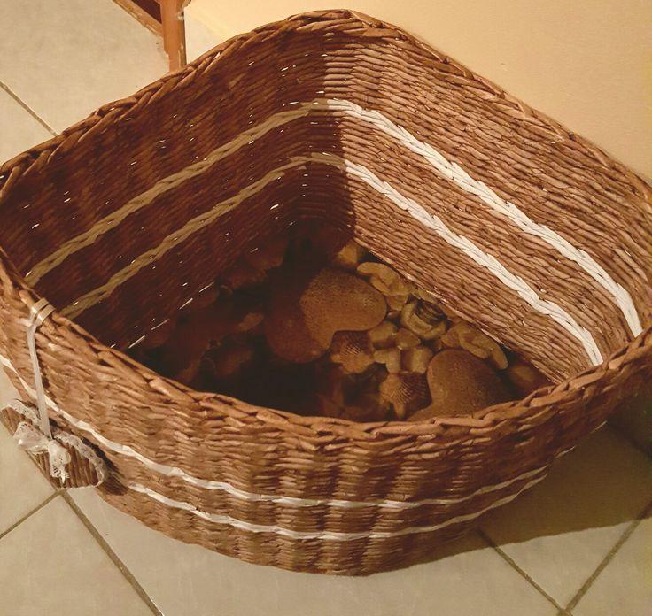 Papírfonás / sarokpolc / kosár fonás papírból / paper peddig