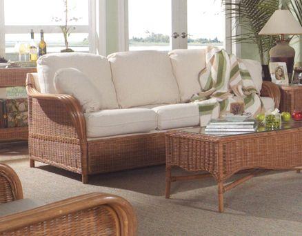 Bodega Bay Wicker Sleeper Sofa