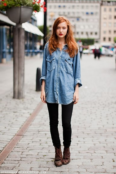 17 Best ideas about Oversized Denim Shirt on Pinterest | Oversized ...