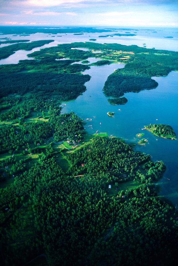 Aerial view of the Stockholm Archipelago, Sweden