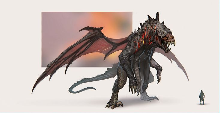 ArtStation – Scorched Beast Concept Art, Katya Gudkina   – Fantasy Monster/Pet Art