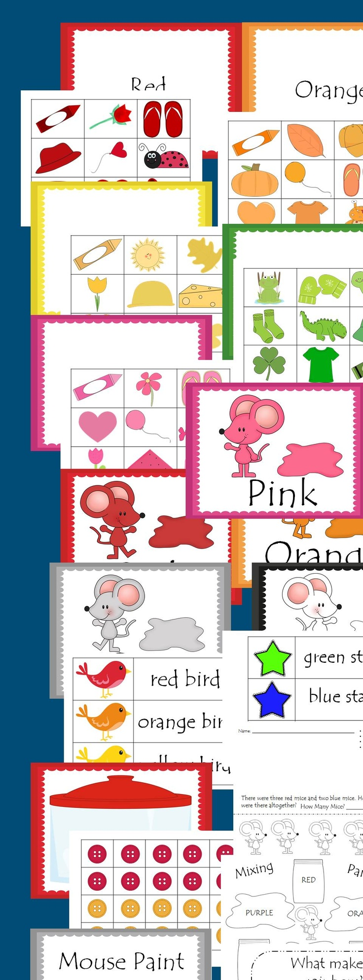This 226 page packet is perfect for teaching your students colors and color words. Literacy station activities, sorting, emergent readers, and much more! $