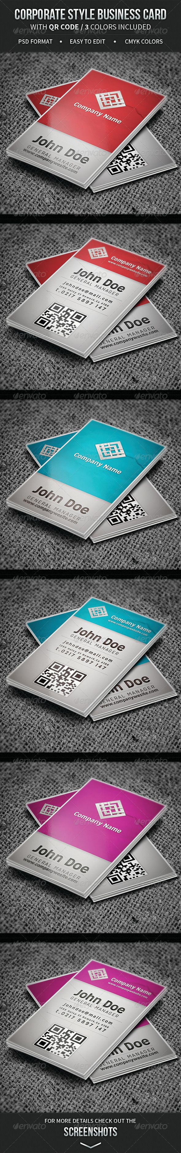 117 best business cards psd with qr code images on pinterest