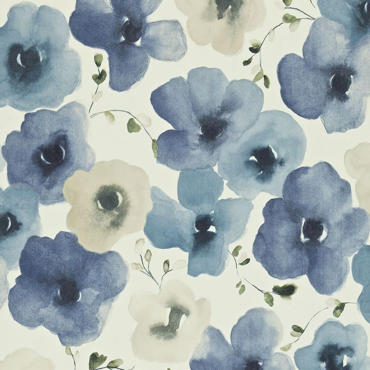 Inari  'Inari' is a beautiful multicoloured floral painted in a similar watercolour style to the printed fabric design 'Mandarin Flowers'.    Collection: Colour for Living Wallpapers   Design name: Inari  Colour: Indigo/Ivory  Product number: DCFL211660  Wallpaper type: Non Woven  Width (cm): 52  Vertical pattern repeat (cm): 61  Match: Half Drop