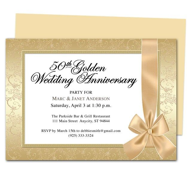 9 best 25th & 50th Wedding Anniversary Invitations Templates ...