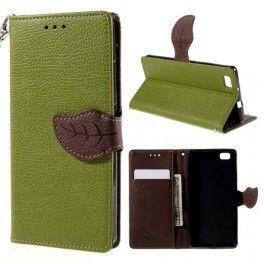 Huawei P8 Lite vihreä puhelinlompakko. #vihreä #huaweip8lite
