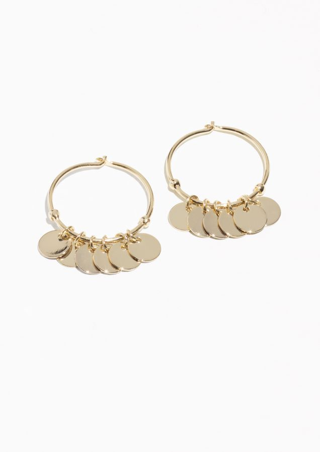 4591fdbf2d123 & Other Stories Mini Hoop Coin Earrings in Gold | Jewelry in 2019 ...