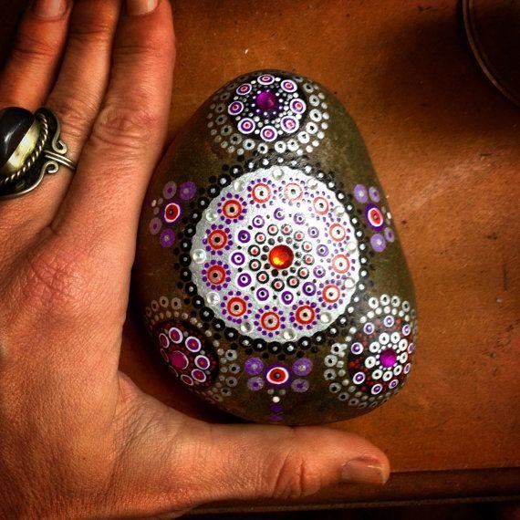 Silver moon mandala