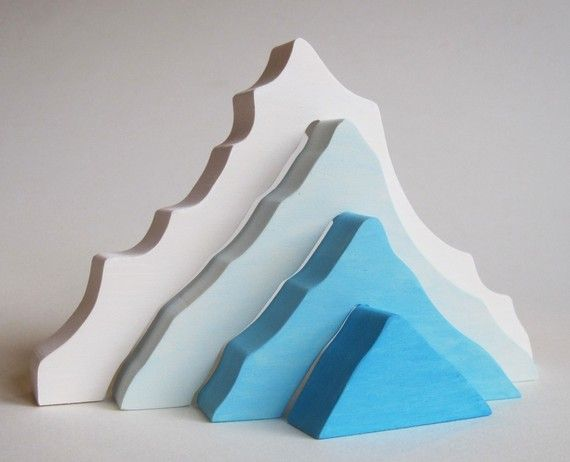 Iceberg Stacking toy Natural Wooden Toy by Imaginationkids on Etsy, $14.00