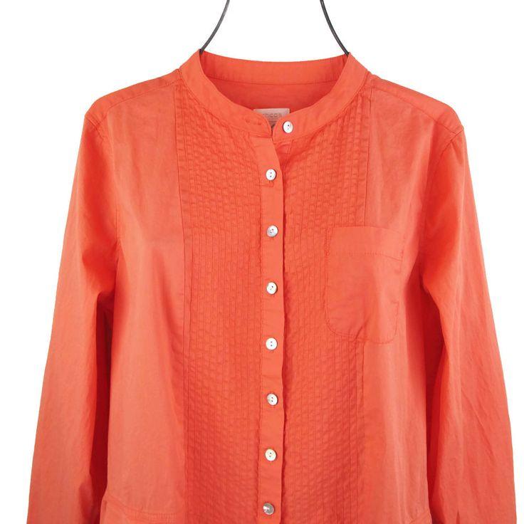 Chicos 1 Tunic Top Medium M Womens Long Sleeve Smocked Poet Shirt Prairie Boho #Chicos #Tunic #Casual
