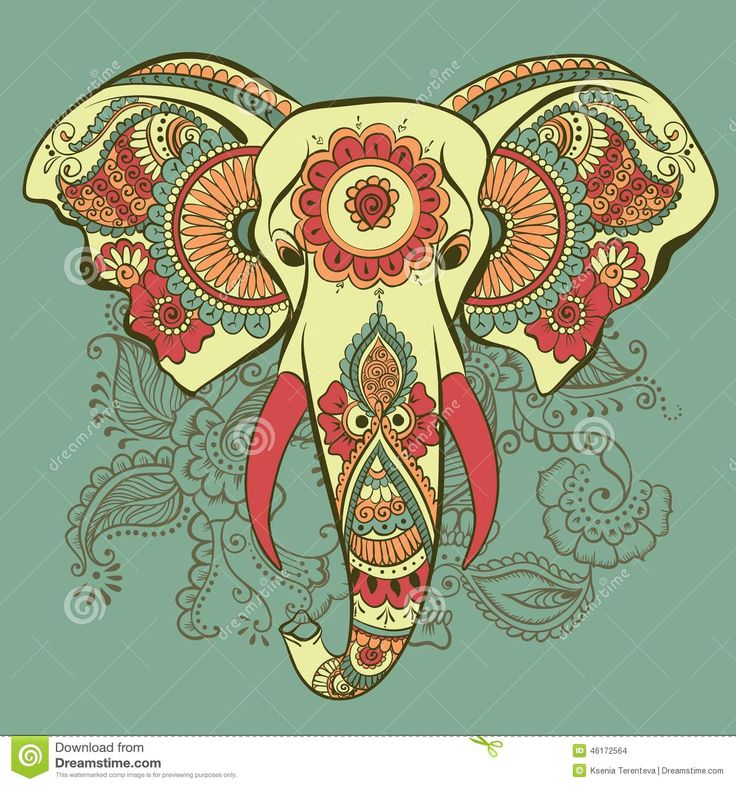 elefantes indu ilustracion - Buscar con Google