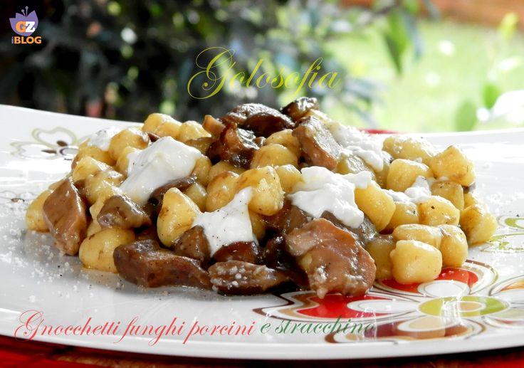 Gnocchetti+con+funghi+porcini+e+stracchino,+ricetta+gustosa