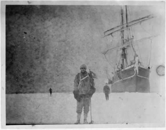 Sir Ernest Shackleton's 1914-1917 Imperial Trans-Antarctic Expedition shown in photos developed nearly 100 years later.
