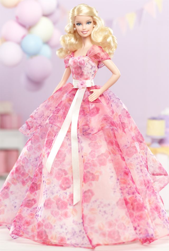 Birthday dreams really do come true with this fab-in-floral special occasion doll! 2014 Birthday Wishes Barbie® Doll