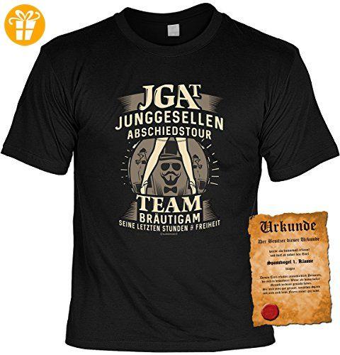 Spaß/Fun-Shirt inkl. Spaß-Urkunde: JGA T Junggesellen Abschiedstour Team Bräutigam Seine letzten Stunden Freiheit tolle Geschenkidee (*Partner-Link)