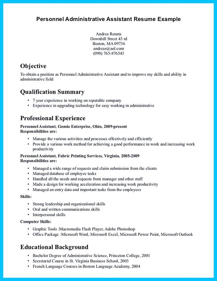 In Writing Entry Level Administrative Assistant Resume, You Need To  Understand What You Will Write