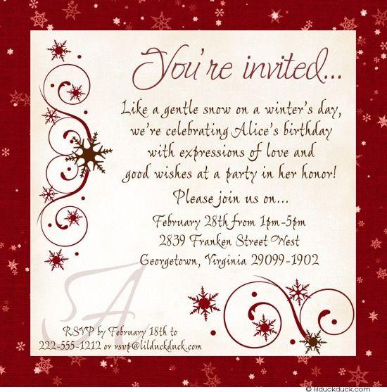 266 best newcomer cards images on pinterest 60 birthday biking festive red winter birthday invitation stopboris Choice Image