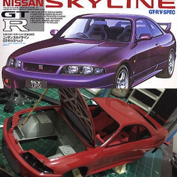 Nissan Skyline GTR R33 Costume #mokit #modelkit #diecast #diecastindonesia #nissanskylinegtr