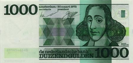 Spinoza op 1000 guldenbiljet