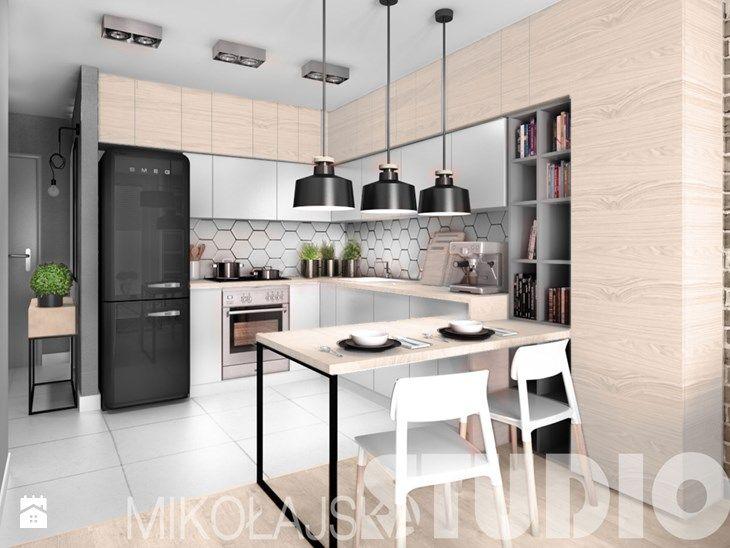 Marvelous beton drewno ceg a kuchnia zdj cie od MIKO AJSKAstudio