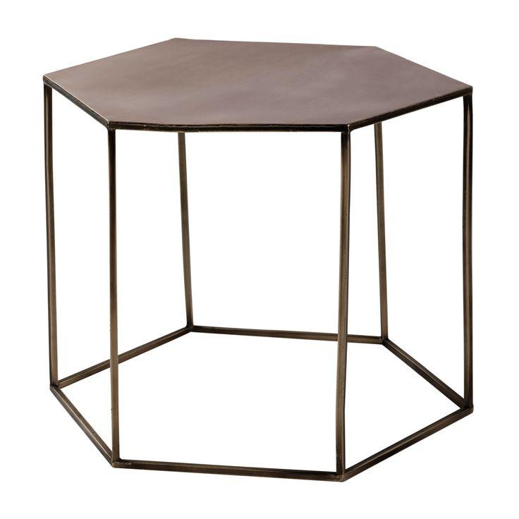 Tavolo basso in metallo ramato L 60 cm Cooper