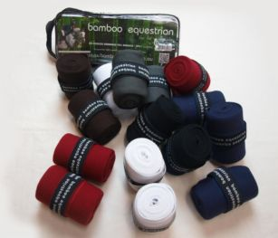 A pack of 4 horse bandages (vet wraps) suitable for use during exercise (2M) and in the stable (3M). A blend of 70% bamboo and 30% Coolplus fibres means they provide unbeatable comfort with superior ventilation. Bamboo is known for its thermo-regulating properties while Coolplus wicks out moisture. Bamboo is also antibacterial which makes these vet wraps great for ailing injury as well.