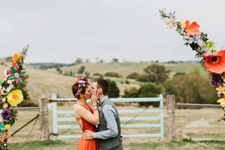 Our wedding arch