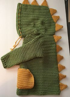 Ravelry: Dino/ Dinosaur Hooded Sweater with Spikes pattern by Katerina Cohee