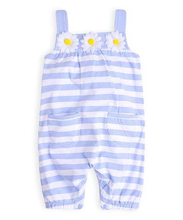 Look at this #zulilyfind! Miami Sky Stripe Daisy Shortalls - Infant #zulilyfinds