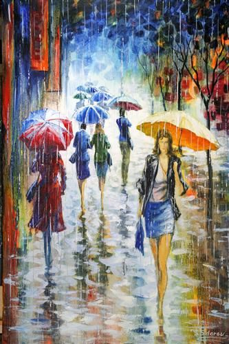 Date Night. Stanislav Sidorov.  Ugallery Beautiful oil paint Rainy days