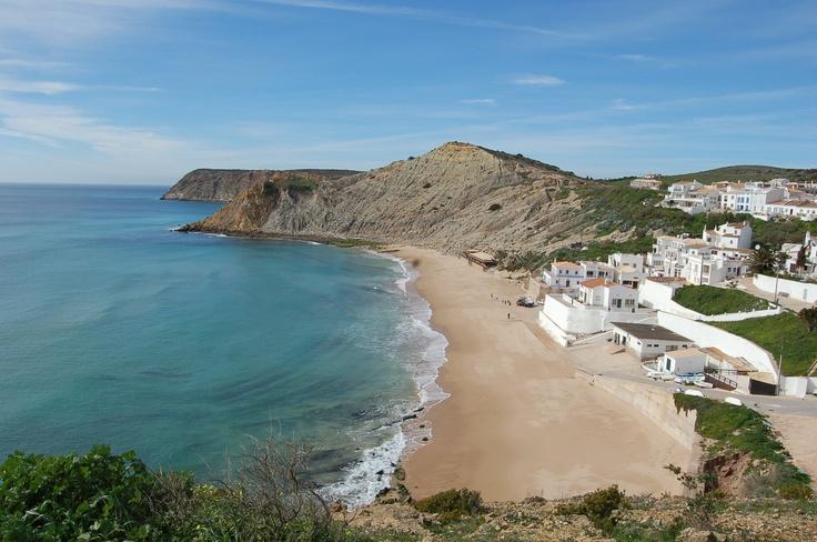 Burgau Beach, Vila do Bispo, Algarve, Portugal. Photo Câmara Vila Bispo.  Accomodations: http://www.feriasemportugal.pt/en/regions/region-algarve/district-faro/county-Vila%20do%20Bispo/