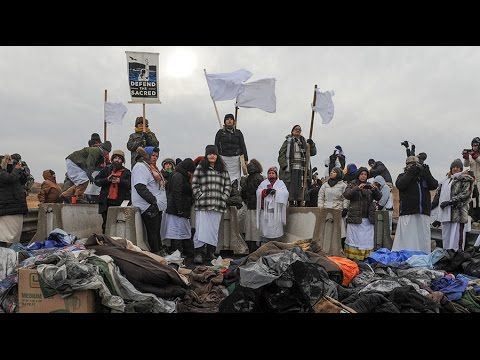 Thousands to continue #NoDAPL protest despite Army Corps cease-and-desist  Published on Nov 28, 2016
