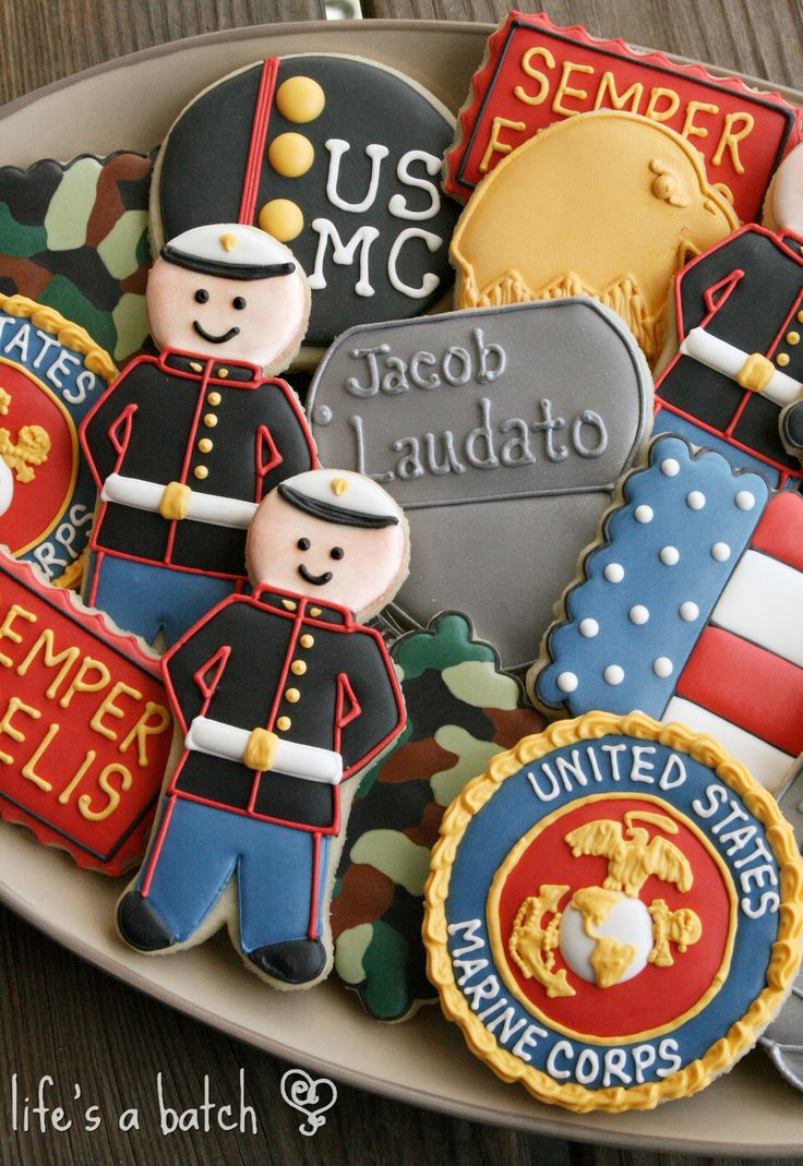 Marines Cookie Assortment. Marine cake, home