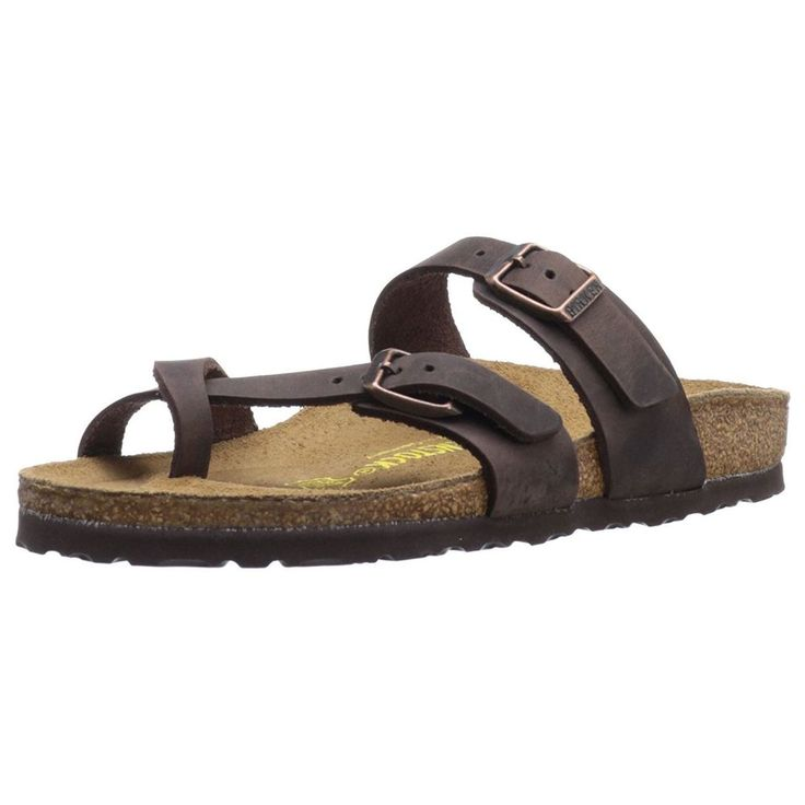Birkenstock Mayari Brown Womens Comfort Leather Sandals - A$126.65.  Declaimer: Purchases made to this product accredits advertiser an affiliate commission.