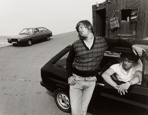 Chris Killip. Bever's First Day Out, Skinningrove, North Yorkshire. 1982